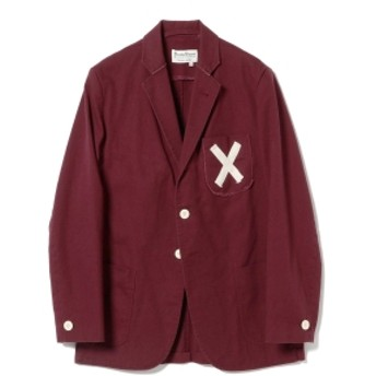 ROWING BLAZERS × BEAMS PLUS / 別注 COTTON TWILL JACKET メンズ テーラードジャケット BURGUANDY 38