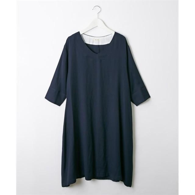 スラブAラインワンピース (ワンピース)Dress, 衣裙, 連衣裙