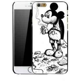 タバコ ミッキー パロディ iPhone ケース ハードケース 白 アイコス【 ディズニー iPhone6 iPhone6s iPhone6plus iPhone6plus iPhone7 iP
