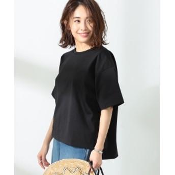 BEAMS LIGHTS / 手洗い可能 コットンオーバーサイズ Tシャツ レディース Tシャツ BLACK ONE SIZE