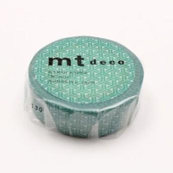 カモ井加工紙 mt 1P 組亀甲・緑青(ろくしょう) マステ マスキングテープ