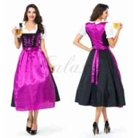 ハロウィン ビールガール ドイツ メイド服 ワンピース 民族衣装 S-Lサイズ コスプレ衣装 ps3528