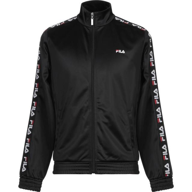 《セール開催中》FILA メンズ スウェットシャツ ブラック S ポリエステル 100%