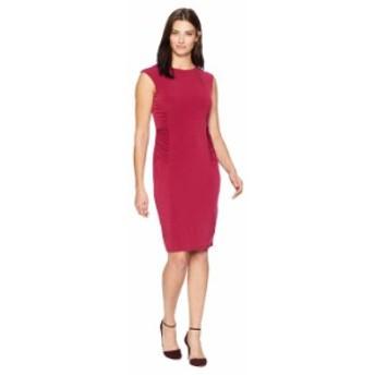 イヴァンカ・トランプ レディース ワンピース トップス Sleeveless Shirred Matte Jersey Dress Scarlet
