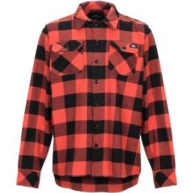 《期間限定 セール開催中》DICKIES メンズ シャツ 赤茶色 L コットン 100%