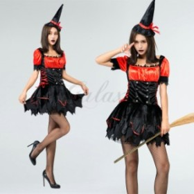 ハロウィン 魔女 デビル 小悪魔 魔法使い ウィッチ ワンピース メイド服 コスチューム コスプレ衣装 ps3507