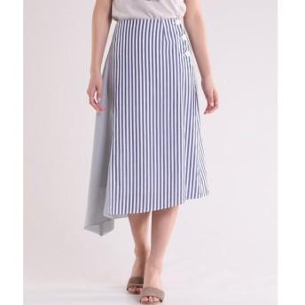 INED / イネド 《Maison de Beige》ストライプラップスカート