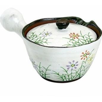 急須 おしゃれ : 有田焼 粉引草花 (U)急須 Japanese Tea pot Pottery/Size(cm) 17.5x12x9/No:317852