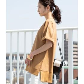 ビス/【WEB限定】綿麻オーバーサイズプルオーバー/ブラウン/F