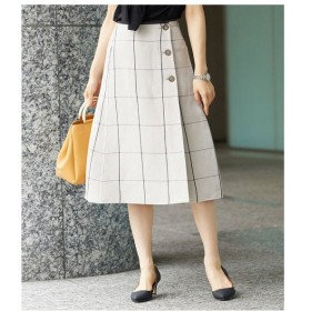 ROPE' / ロペ 【ドラマ着用】麻混リバーシブルミディスカート
