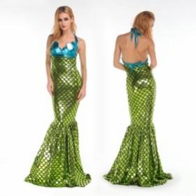 ハロウィン  人魚 人魚姫 ドレス マーメイド 童話 コスプレ衣装 ps2515