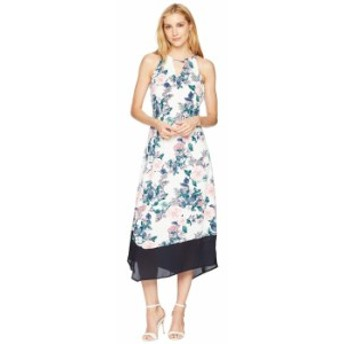 イヴァンカ・トランプ レディース ワンピース トップス Matte Jersey Maxi Hanky Hem Color Block Hem Dress Ivory/Multi