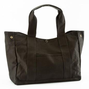 【ラッピング無料】頑張るお母さんへ。使いやすいメイドインジャパンの帆布バッグ 黒 メディア掲載品