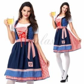 ハロウィン ビールガール ドイツ メイド服 ワンピース 民族衣装 M-XLサイズ コスプレ衣装 ps3602