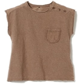 PLAY UP / ベビー ノースリーブ Tシャツ 19 (1~2才) キッズ Tシャツ BROWN 2y