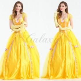 fa7d87a7a8df6 ハロウィン 民族衣装 ヨーロッパ風 女神 女王 お姫様 プリンセス イエロー 童話 コスプレ衣装 ps2895