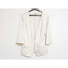 【中古】 ローズティアラ Rose Tiara ジャケット サイズ42 L レディース 美品 ベージュ