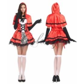 ハロウィン 赤ずきん 童話  ロリータ コスチューム メイド ワンピース 仮装 コスプレ衣装 ps1873