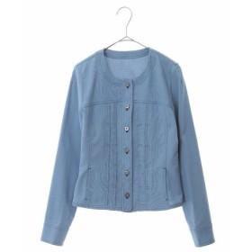 HIROKO BIS / 【洗える】ノーカラー ステッチジャケット