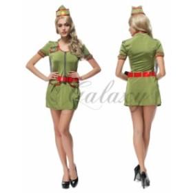 ハロウィン  婦人警官 婦警 ポリス 海軍 軍服 帽子付き 仮装 セクシー コスプレ衣装 ps2728