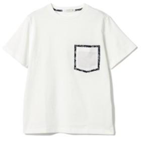 BEAMS LIGHTS / リバティプリント ダブル ポケット Tシャツ メンズ Tシャツ WHITE XL