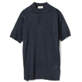 【ショップ限定商品】JOHN SMEDLEY / PIRRO シルク 30ゲージ ニットポロシャツ メンズ ポロシャツ MIDNIGHT S