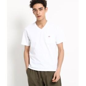 Dessin / デッサン DANTON ワンポケットVネックTシャツ