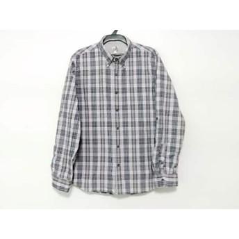 【中古】 ザ ショップ ティーケー 長袖シャツ サイズ3 L メンズ パープル 黒 マルチ