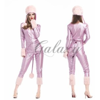 ハロウィン アニマル ピンク・パンサー ネコ 着ぐるみ 全身タイツ イベント パーティー 舞台 コスプレ衣装 ps3026