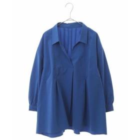 HIROKO BIS GRANDE / 【洗濯機で洗える】スキッパーシャツ