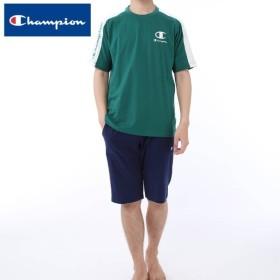セール 特価 GUNZE(グンゼ)/Champion(チャンピオン)/薄手ニット素材 セットアップ 半袖半パンツ(メンズ)/春夏/OM3599/M〜LL