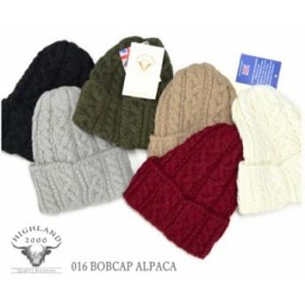 HIGHLAND2000 ハイランド2000 アルパカ ニットキャップ 016 BOBCAP ALPACA ボブキャップ ニットキャップ ニット帽 英国製 メンズ レディ