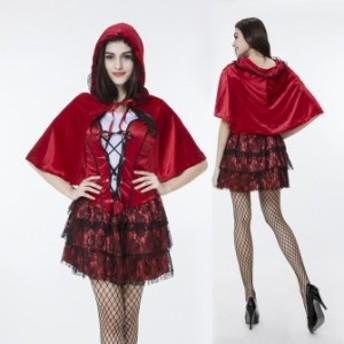 ハロウィン  赤ずきん メイド 童話 コスプレ衣装 ps2485