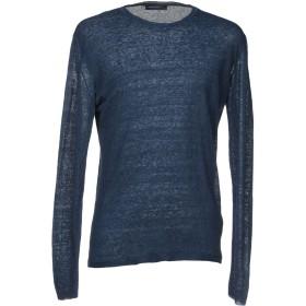《セール開催中》WOOL & CO メンズ プルオーバー ブルー XL 麻 90% / ナイロン 10%