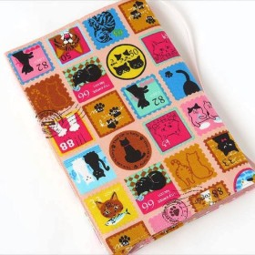 文庫本ブックカバー 猫切手