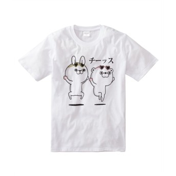 YOSISTAMP(ヨッシースタンプ) チーッスプリント半袖Tシャツ Tシャツ・カットソー