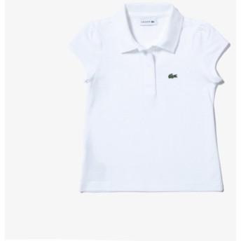 Girls スカラップカラー ミニピケ ポロシャツ