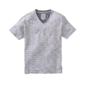 Louis Chavlon(ルイシャブロン)ジャガードボーダーレイヤードVネック半袖Tシャツ Tシャツ・カットソー