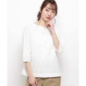 smart pink / スマート ピンク 【洗える】ペイズリーズ刺しゅうシャツ