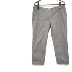 【中古】 プラダ PRADA パンツ サイズ40S レディース グレー ストライプ