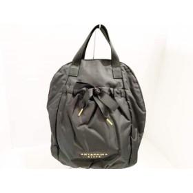 【中古】 アンテプリマミスト ANTEPRIMA MISTO リュックサック 美品 黒 ナイロン