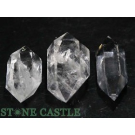 ☆置石一点物☆【天然石 置き石】ダブルポイント型 水晶 (3本セット) No.41
