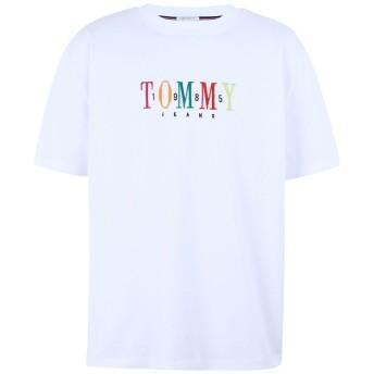 《期間限定 セール開催中》TOMMY JEANS メンズ T シャツ ホワイト M コットン 100% TJM TOMMY 85 SHORTSLEEVE