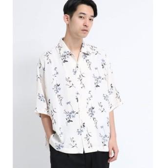 tk.TAKEO KIKUCHI / ティーケー タケオキクチ フラワープリントオーバーシャツ