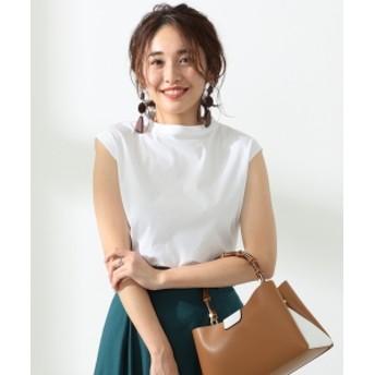 BEAMS LIGHTS / 無縫製 フレンチスリーブ スムース Tシャツ レディース Tシャツ WHITE ONE SIZE