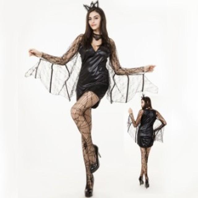 ハロウィン  悪魔 デビル 魔女 吸血鬼 ヴァンパイア コウモリ コスプレ衣装 ps2498