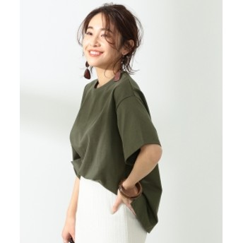 BEAMS LIGHTS / 手洗い可能 コットンオーバーサイズ Tシャツ レディース Tシャツ OLIVE/OD ONE SIZE