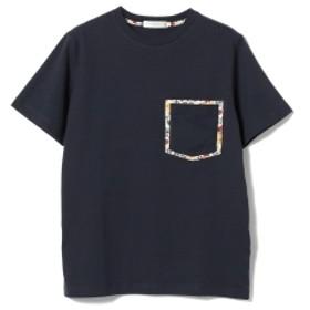 BEAMS LIGHTS / リバティプリント ダブル ポケット Tシャツ メンズ Tシャツ NAVY XL