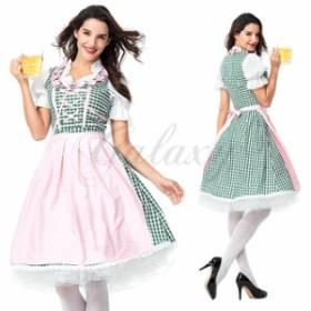 ハロウィン ビールガール ドイツ メイド服 ワンピース 民族衣装 S-XXXLサイズ コスプレ衣装 ps3605