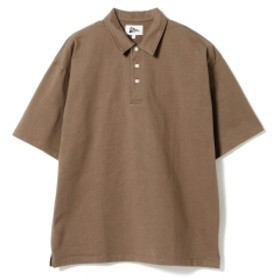 Pilgrim Surf+Supply / Pete Short Sleeve Polo メンズ ポロシャツ WALNUT/OFF WHITE EMB XS
